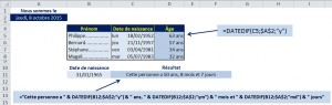 Excel Function - DATEDIF
